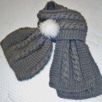 Pletený dámsky zimný šál s čiapkou (fotopostup) dcc3ccd1bf9