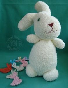 0f5a2f555 Ponožkový zajac (fotopostup) - obrázok 4. ja som tomu môjmu veľkonočnému  zajkovi ...
