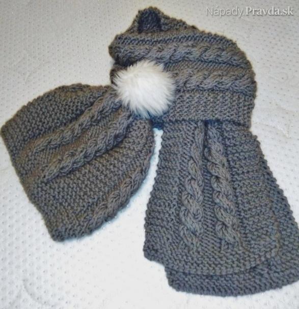 cebe66f9d Pletený dámsky zimný šál s čiapkou (fotopostup) - Návody - napady ...